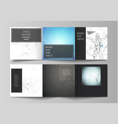 black colored layout covers design vector image