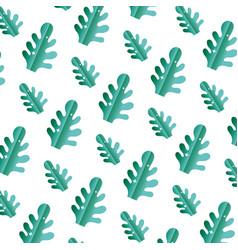 Botanic cute leaf style background vector