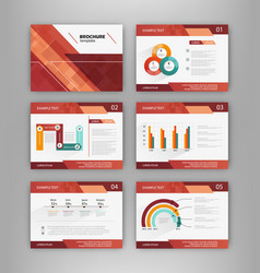 brochure templates with infographics vector image