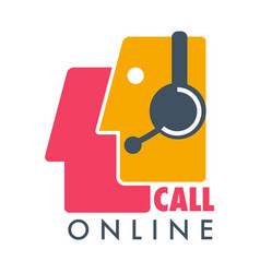 call online customer support icon vector image