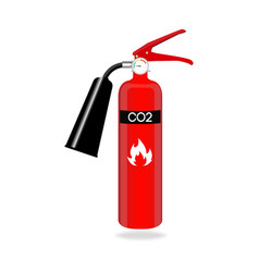 Carbon dioxide fire extinguisher isolated on white vector