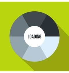 Circle loading icon flat style vector image