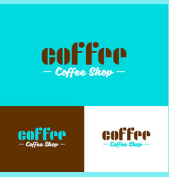 Coffee shop logo beans emblem bistro cafe vector