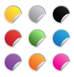 Color glossy stickers vector