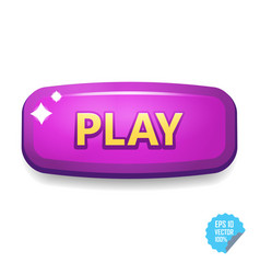 Colorful button with play tittle bright vector