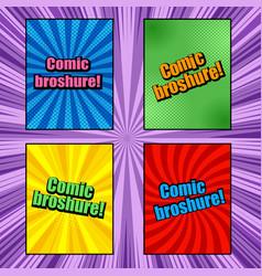 comic book brochures vector image