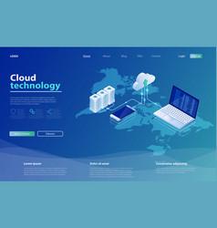 Concepts cloud storage online computing technology vector