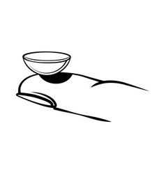 Contact lenses on finger icon vector