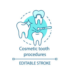 cosmetic tooth procedures concept icon vector image