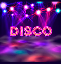 Dance floor banner disco text signboard vector