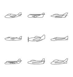 design commercial and flight symbol set vector image