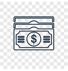 Dollar concept linear icon isolated on vector