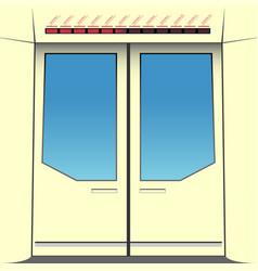 Doors subway train vector