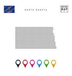 Dots pattern map north dakota stylized vector