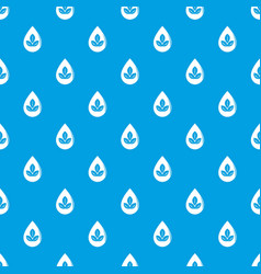drop eco pattern seamless blue vector image