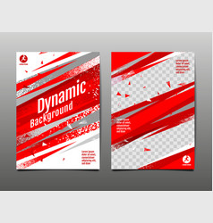 Dynamic background sport layout template vector