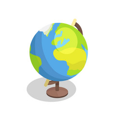 Earth globe model isolated vector