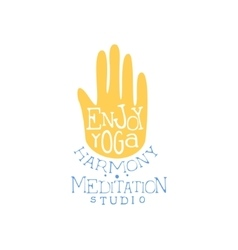 Enjoy Yoga Hand Drawn Promotion Sign vector