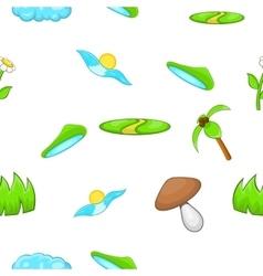 Environment pattern cartoon style vector image