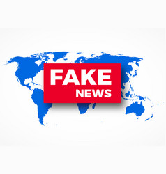 fake news hoax concept vector image