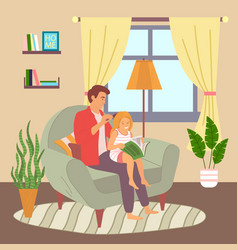 father and daughter relationships dad combing vector image