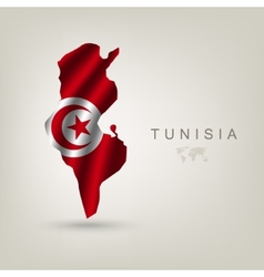 Flag of Tunisia as a country vector image