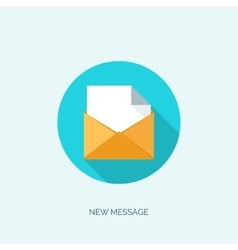 Flat envelope Emailing and vector image