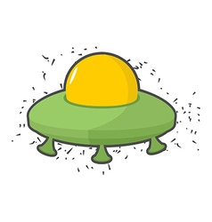 Flying saucer UFO on a white background vector image