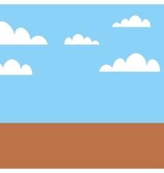 Game landscape scene icon vector