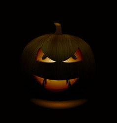 halloween pumpkins smile and scrary eyes for party vector image