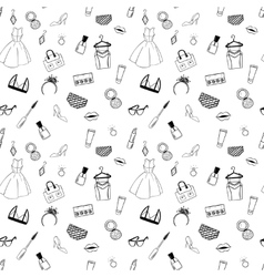 Hand drawn Fashion seamless pattern for adult vector image
