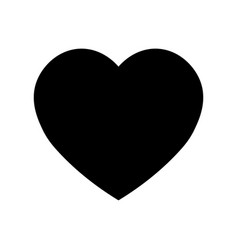 heart icon symbol of love and saint valentines vector image