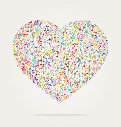heart shape music color vector image
