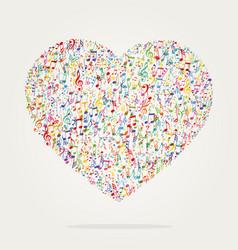 Heart shape music color vector