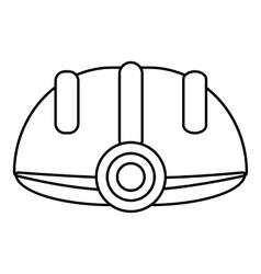 Helmet icon outline style vector
