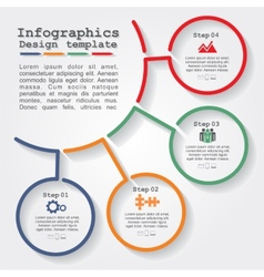 Infographic report template with lines and icons vector image