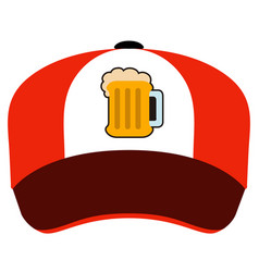 Isolated hat with a beer icon vector