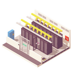 Isometric server room vector