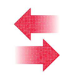 letter arrow halftone gradients graphic elements vector image