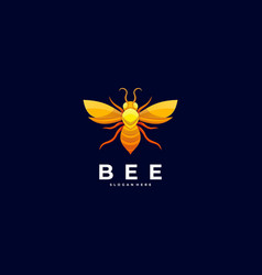logo bee colorful style vector image