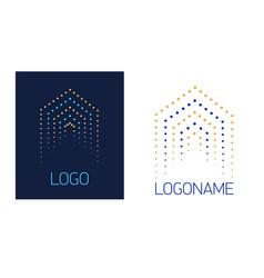 logo house dots vector image