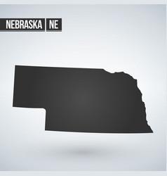 map us state nebraska vector image