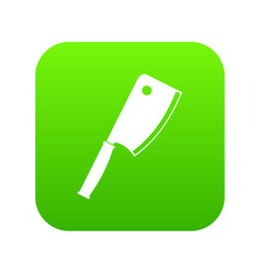 meat knife icon digital green vector image
