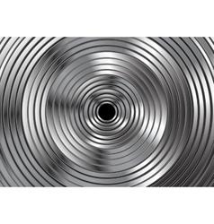 Metallic circles abstract design vector