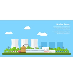 nuclear power vector image