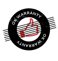 Ok Warranty rubber stamp vector