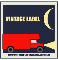 Overnight Delivery Van Vintage Label vector image