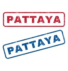Pattaya Rubber Stamps vector image