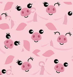 Pigs symbol of the new year vector