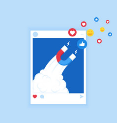Powerful of influencer marketing vector